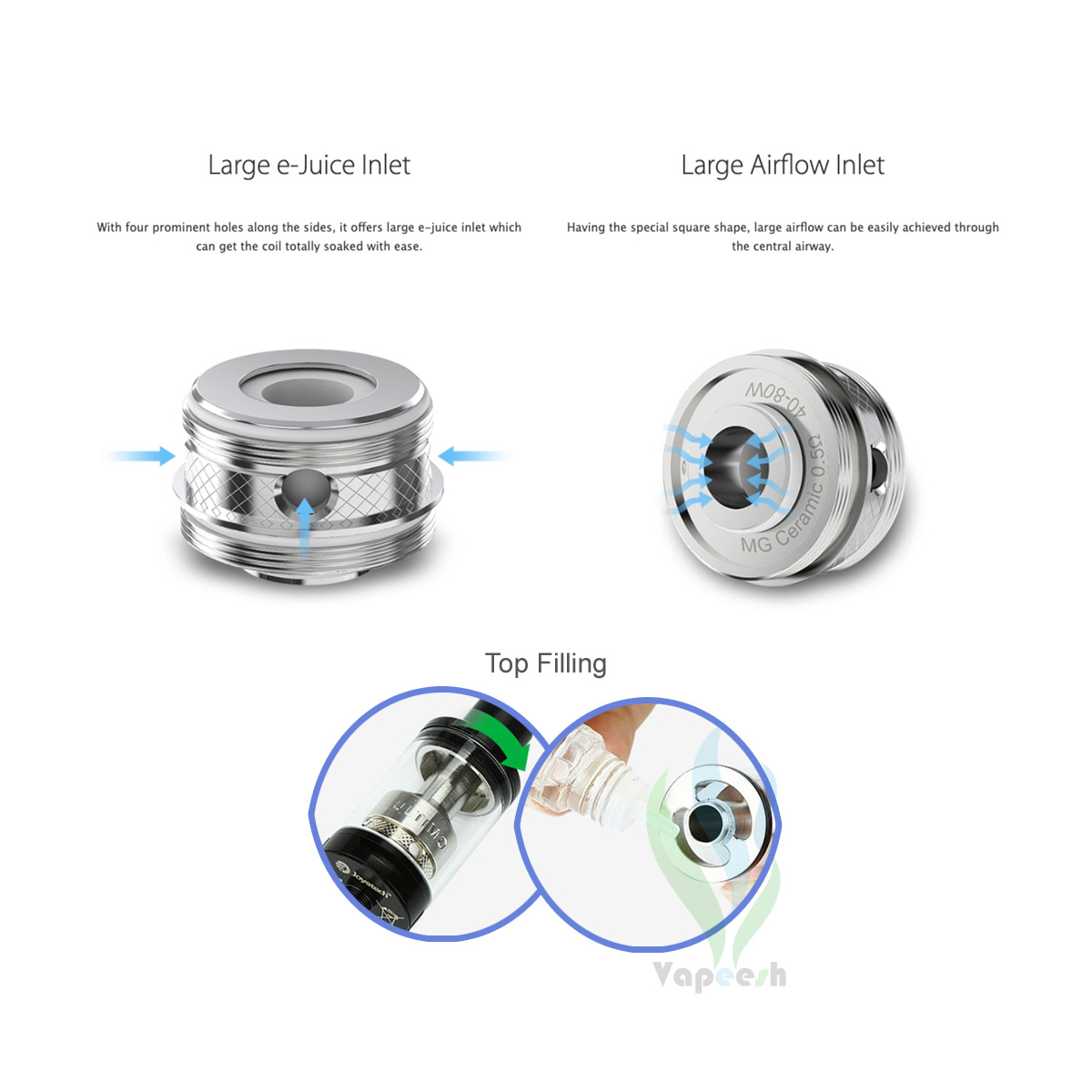 Joyetech ULTIMO Tank Features and Refilling