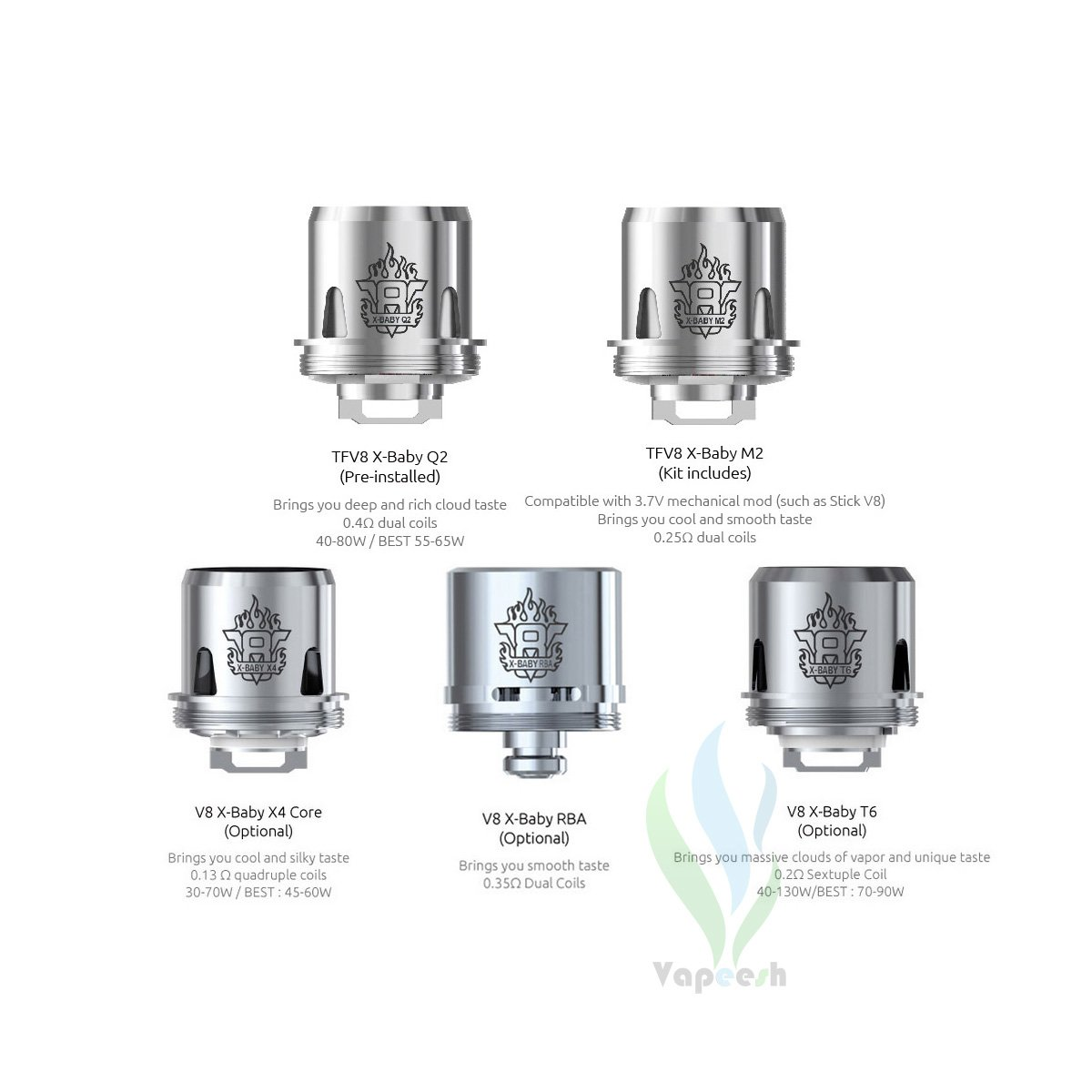 Smok TFV8 X-Baby Tank Coil Heads