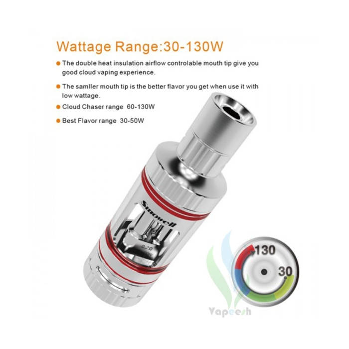 Smowell Hatrick V2 Tank Wattage Rangs - cloud chaser and best flavor