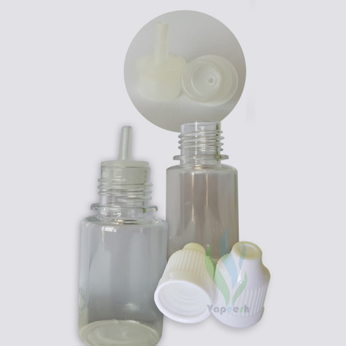 2 Round clear PET dropper bottles 3ml & 2 white caps & 2 natural tips