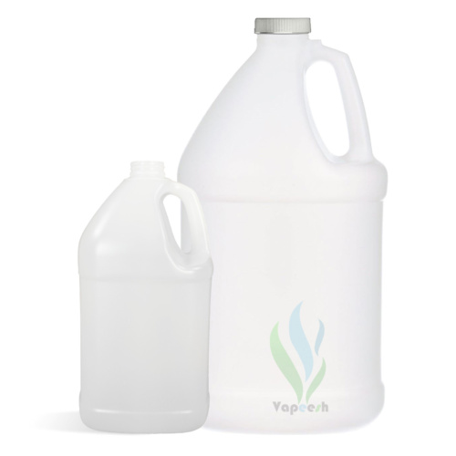 HDPE natural square gallon with white Ripped-Screw closure